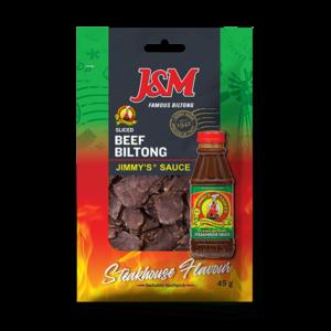 J&M Beef Biltong Sliced Jimmy's sauce 45g